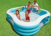 Надувной бассейн имеет множество преимуществ.