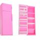 Холодильник розовый Огонек 1385
