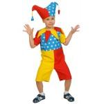 Детский карнавальный костюм Скоморошник текстиль (128-134)