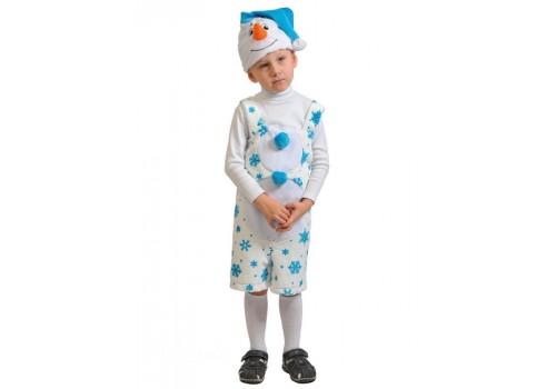 """Детский карнавальный костюм """"Снеговичок """" рост 92-122 3012"""