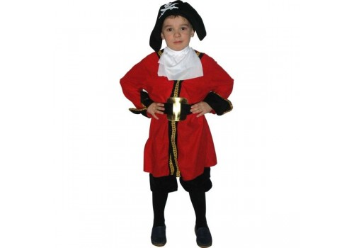 Детский карнавальный костюм пирата капитан Хук размер 7-10