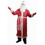 Костюм Деда Мороза с блестками (шуба, шапка, борода) 60217