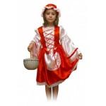 Карнавальный костюм Красная шапочка (текстиль) р.134