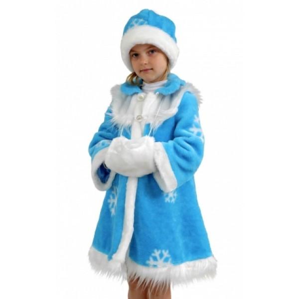 Детский Карнавальный Костюм Снегурочки меховой 87051 купить d49a1defcf0a6