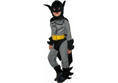 Детский карнавальный костюм Бэтмен с желтым поясом размер 4-6