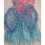 Карнавальный набор бабочки (юбка, крылья со стразам, палочки)