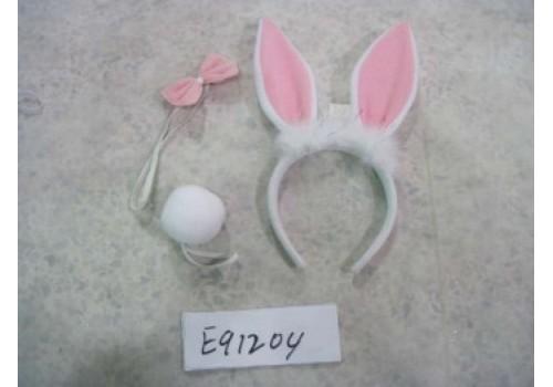 Карнавальный набор ободок,ушки,хвост и бабочка зайца купить