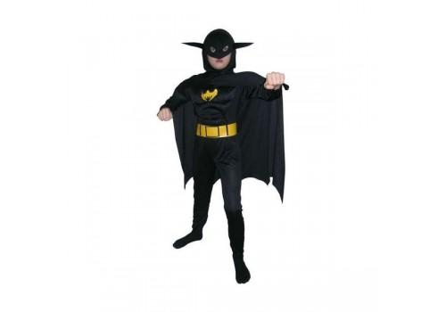 Детский карнавальный костюм Бэтмена с мускулатурой 7-10 лет