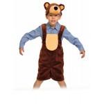 Карнавальный костюм Мишка бурый плюш (р92-122) 3010