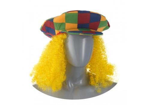 Кепка клоуна с длинными волосами для новогоднего костюма