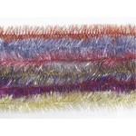 Новогодняя мишура 1,5 м фантазия золотисто-серебристая узкая