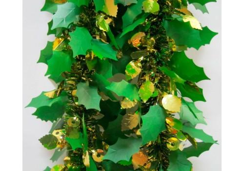 Мишура Зимний лес зеленый/золото 2605