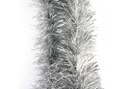 """Мишура """"Праздничная"""" голографическая серебро 1050"""