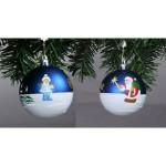 Новогоднее украшение шар с ручной росписью N121 10 см