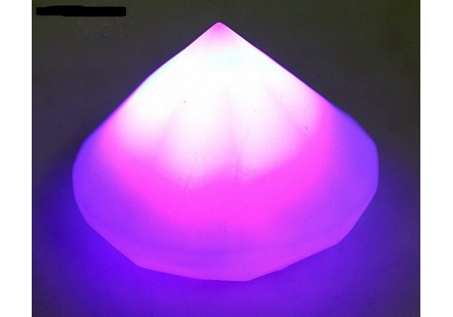 Конус с датчиком прикосновения с водой свет розовый 3,5х4,5х4,5 см