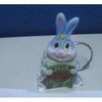Керамический брелок для ключей заяц
