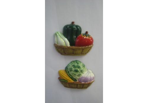 Магнит корзина с овощами 3940