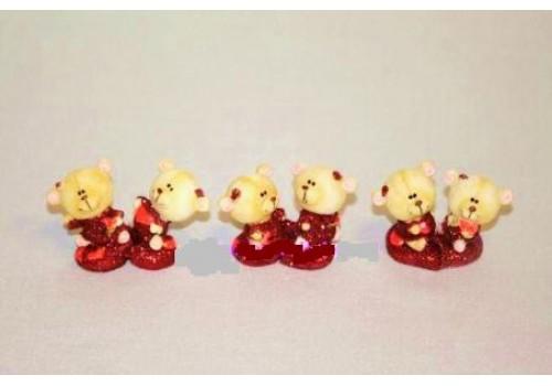 Парочка мишек на сердце (цена за пару) 4230