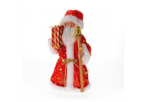 Дед Мороз 25 см в красной шубе под ёлку не музыкальный 92070