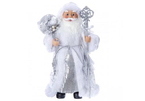Дед мороз 30 см под ёлку с посохом 96409