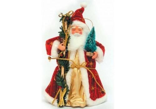 Дед Мороз 18 см под ёлку не музыкальный 0256
