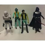 Герои Звездные войны 4 штуки с оружием и светом