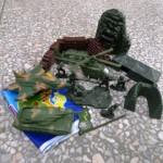 Набор военный (танк,вертолет,самолет) 2305