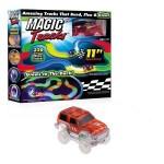 Автотрек гибкий со светом MAGIC Tracks с машинкой 220 элементов