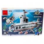 Конструктор BRICK Военный подводная лодка 382 детали 816