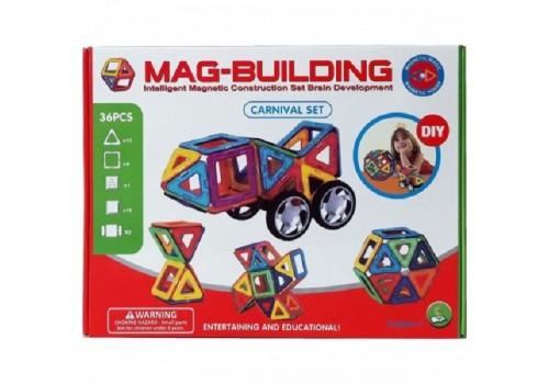 Магнитный конструктор MAG-BUILDING 36 деталей GB-W36