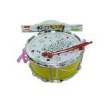 Барабан музыкальный инструмент жёлтый в пакете 0585