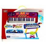 Детский синтезатор со стульчиком и микрофоном 0610
