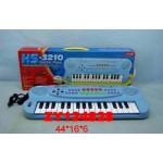 Музыкальный синтезатор с микрофоном голубой HS-3210С