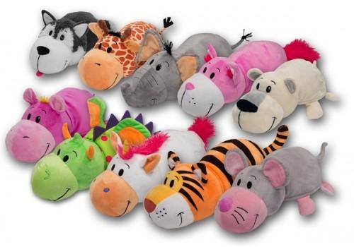 Мягкая игрушка Вывернушка животные большие 50см