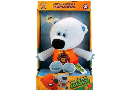 Мягкая игрушка Мульти-пульти Медвежонок Белая тучка озвученная 20 см V62076/20X