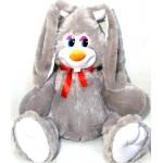 Заяц с длинными ушами и бантом Лаврик 85 см КБ09