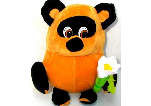 Мягкая игрушка Винни-Пух с цветком 40см