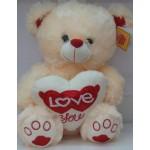 Мягкая игрушка Медведь с сердцем 1-1285-40
