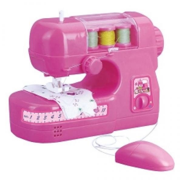 Детская игрушечная швейная машинка на батарейках свет звук 724