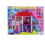 Дом для кукол 2 этажа с мебелью 6980