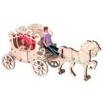 Деревянный конструктор Чудо-карета для кукол 30 см Н-14
