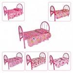 Кровать для куклы металлическая 8842