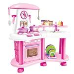 Детская Кухня с водой (свет, звук, настоящая вода, набор аксессуаров) М6651-2