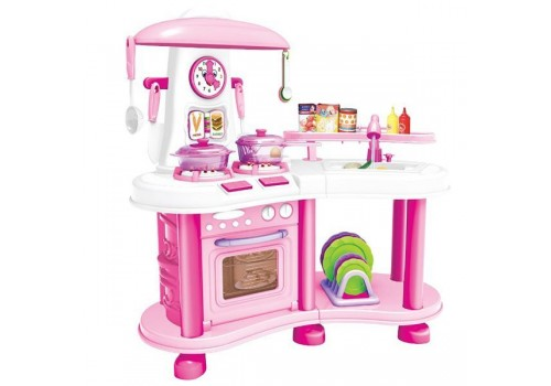 Набор детская Кухня с водой (свет, звук, настоящая вода, набор аксессуаров) М6651-2