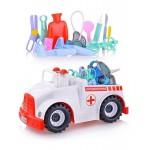 Автомобиль Скорая помощь 16 предметов в сетке