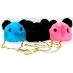 Детская сумочка меховая с цепочкой Мишка 0210