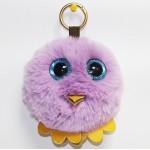 Детская сумочка меховая с цепочкой птичка 0296