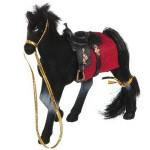Лошадь с гривой флокированная 11 см 2549-8
