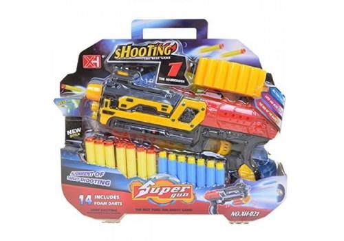 Бластер с мягкими пулями Super gun свет,звук ХН-021