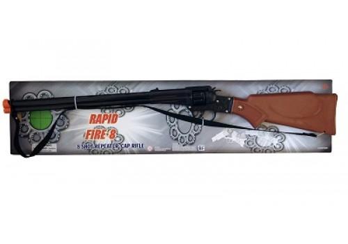 Детское ружьё с пистонами и металлическим цилиндром 2060